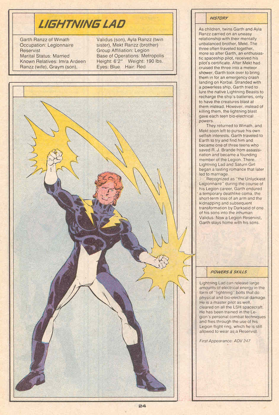 Lightning Lad by Greg LaRocque and Bob Smith - Who's Who in the Legion of Super-Heroes #4