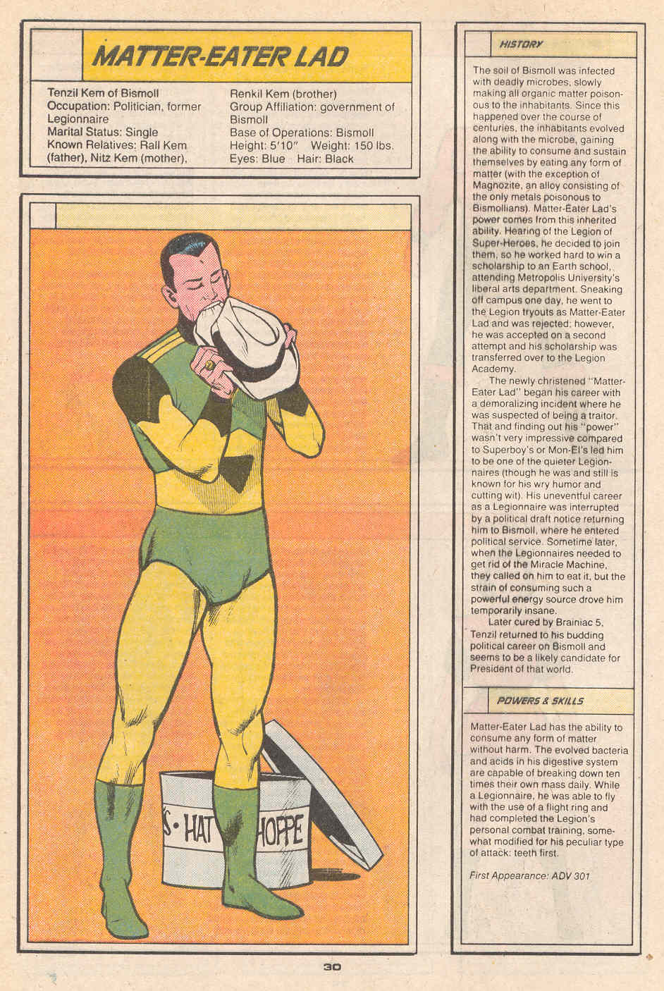 Matter-Eater Lad by Ty Templeton - Who's Who in the Legion of Super-Heroes #4