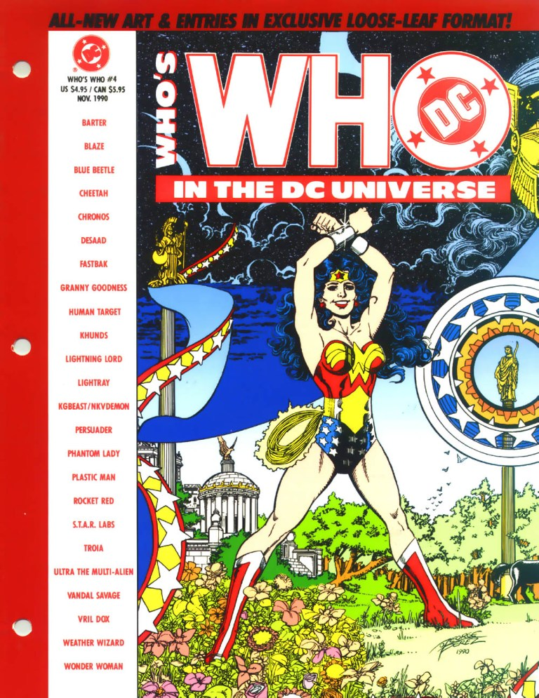 Who's Who in the DC Universe #4 cover featuring Wonder Woman by George Perez!