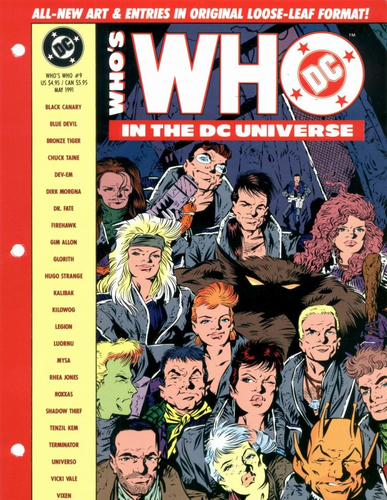 Who's Who in the DC Universe #9 cover - Legion of Super-Heroes by Keith Giffen and Al Gordon!