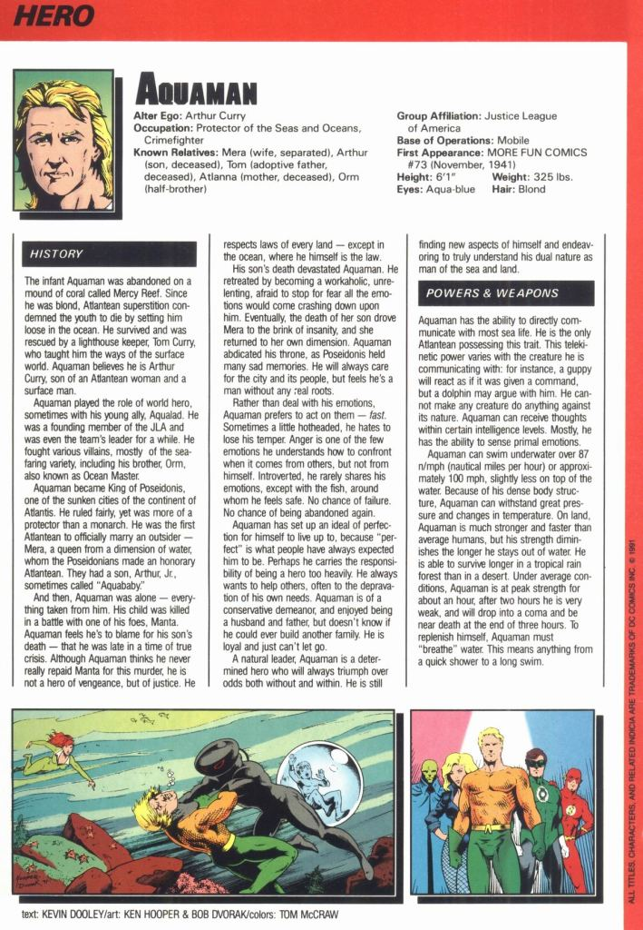 Who's Who in the DC Universe #12 - Aquaman by Ken Hooper and Bob Dvorak