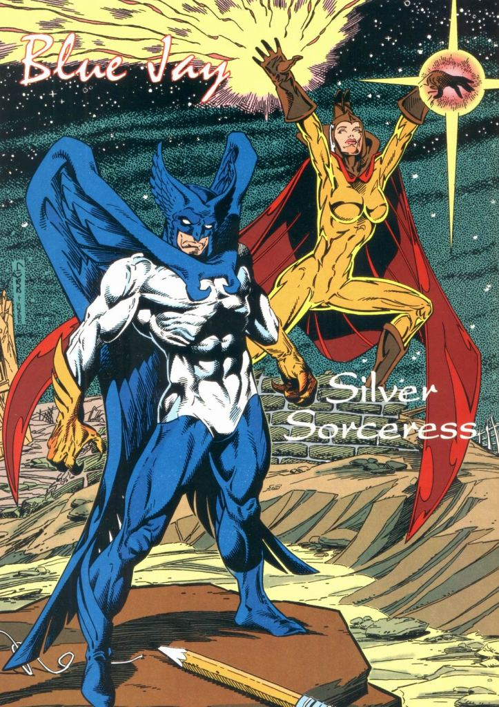 Who's Who in the DC Universe #12 - Blue Jay and Silver Sorceress by Bart Sears and Terry Austin