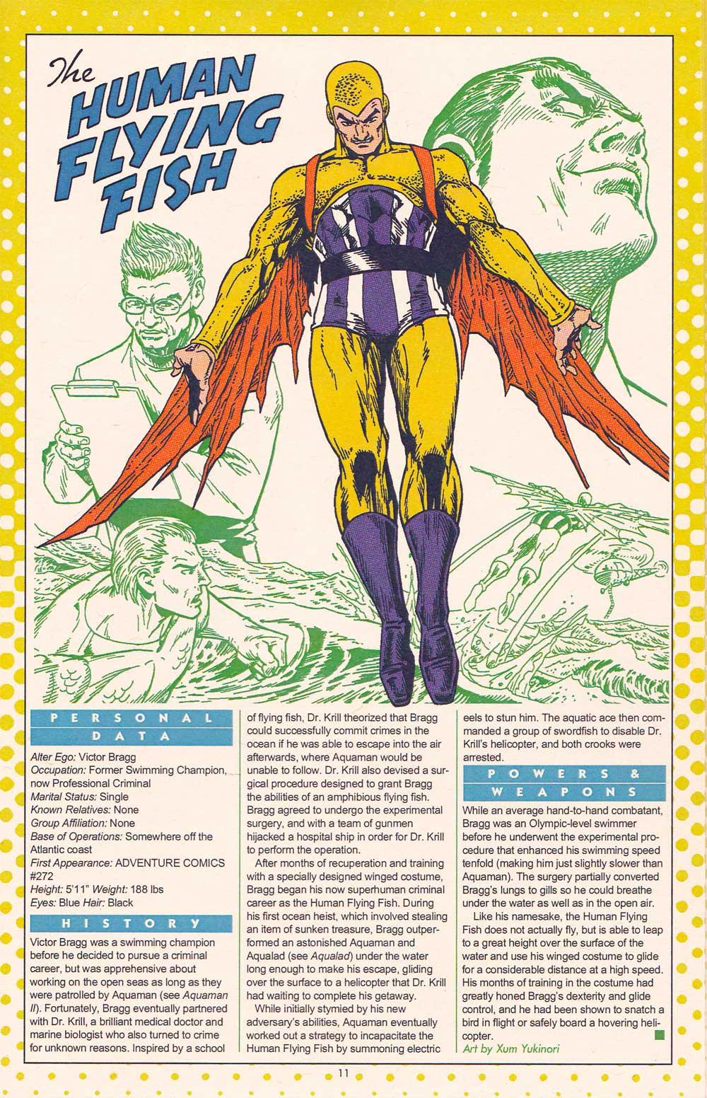 Xum Yukinori's Addendum to the Definitive Directory of the DC Universe - Human Flying Fish by Xum Yukinori