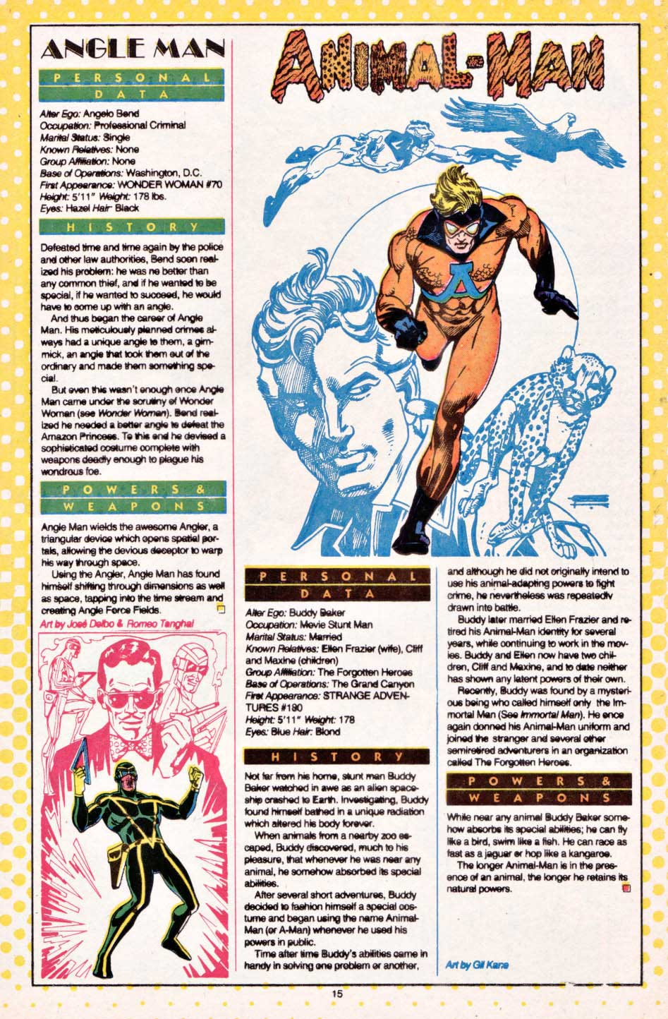 Angle Man by Jose Delbo & Romeo Tanghal - Who's Who: The Definitive Directory of the DC Universe #1