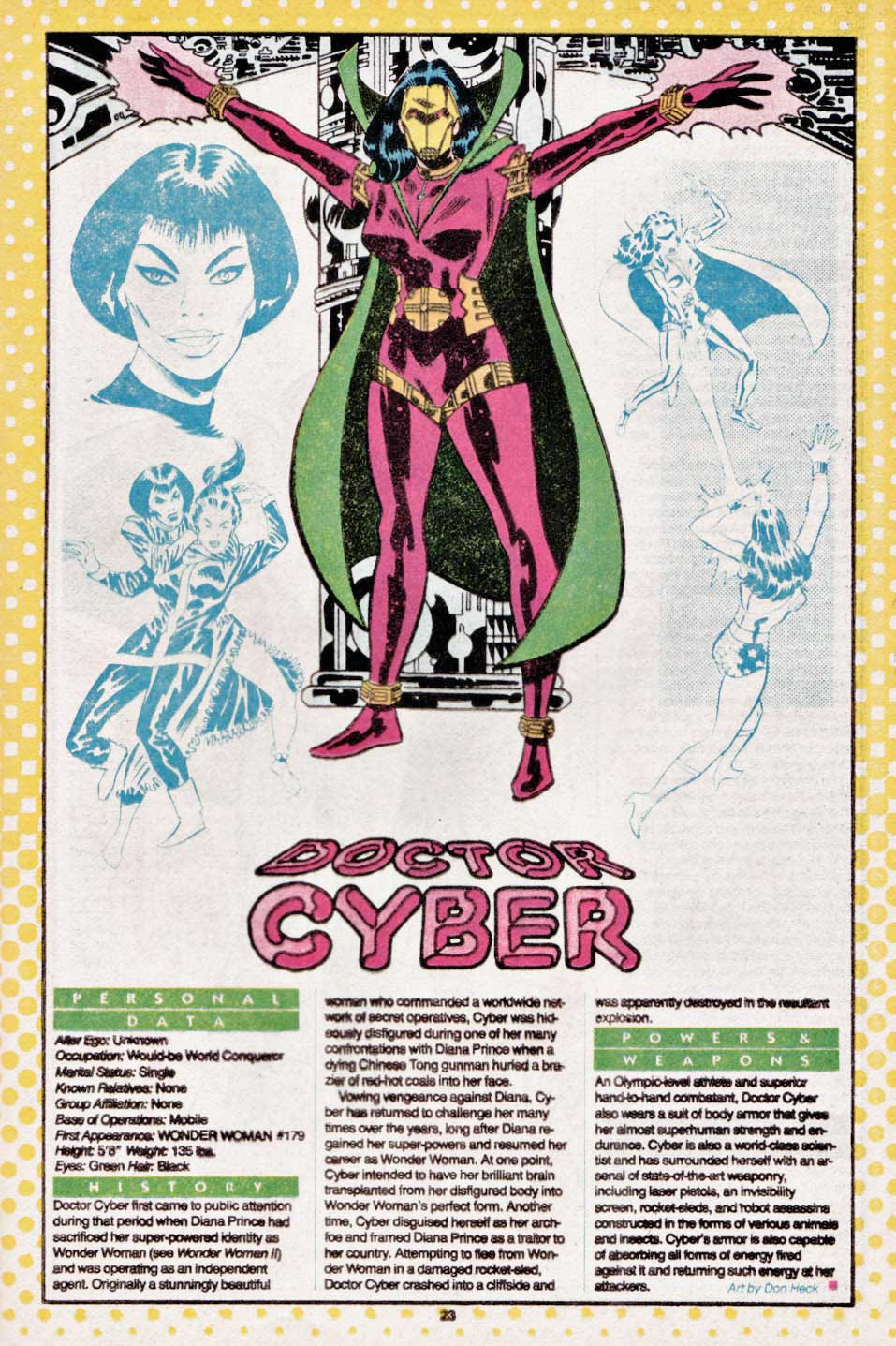 Doctor Cyber by Don Heck - Who's Who: The Definitive Directory of the DC Universe #6