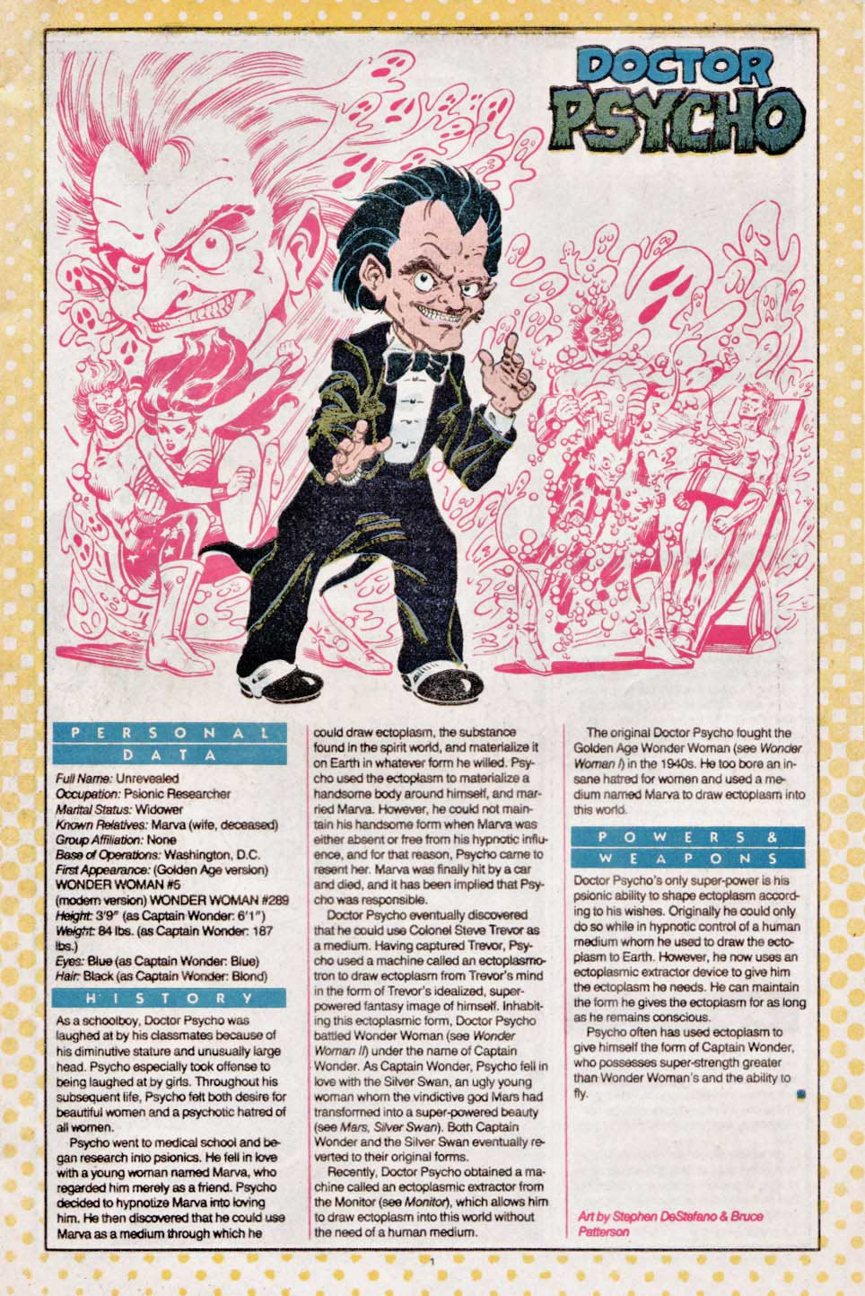 Doctor Psycho by Stephen DeStefano & Bruce Patterson - Who's Who: The Definitive Directory of the DC Universe #7