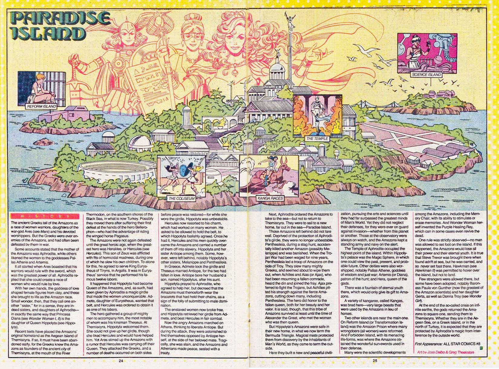 Paradise Island by Jose Delbo & Greg Theakston - Who's Who: The Definitive Directory of the DC Universe #17